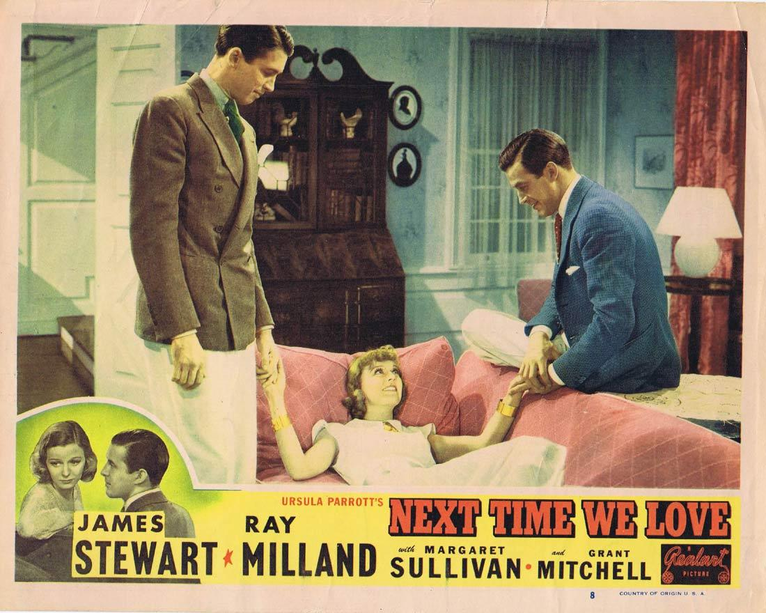 NEXT TIME WE LOVE Original Lobby Card 8 Margaret Sullavan James Stewart Ray Milland 1948r