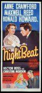 NIGHT BEAT Original Daybill Movie Poster Maxwell Reed Anne Crawford