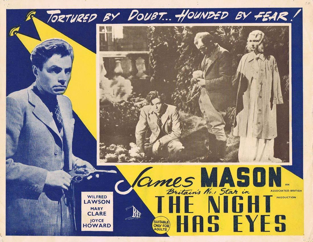 THE NIGHT HAS EYES Australian Lobby Card 4 James Mason Film Noir