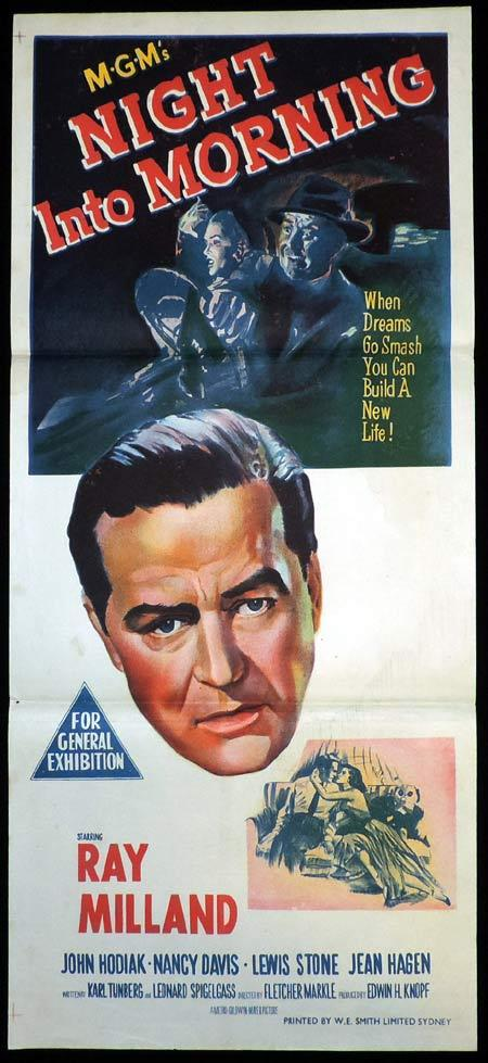 NIGHT INTO MORNING Original Daybill Movie Poster Ray Milland