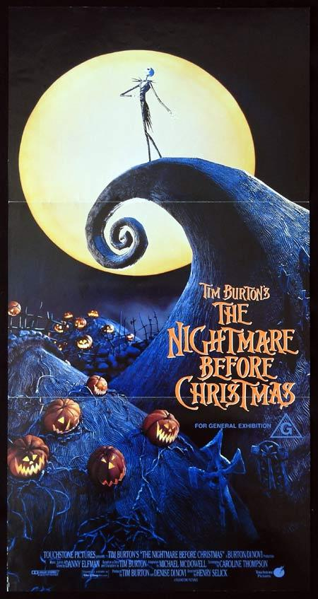 THE NIGHTMARE BEFORE CHRISTMAS Daybill Movie Poster Tim Burton