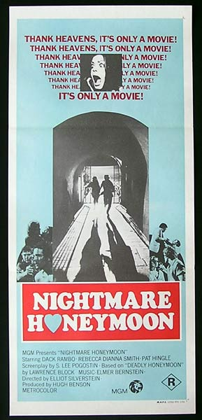 NIGHTMARE HONEYMOON Daybill Movie poster Horror Dack Rambo
