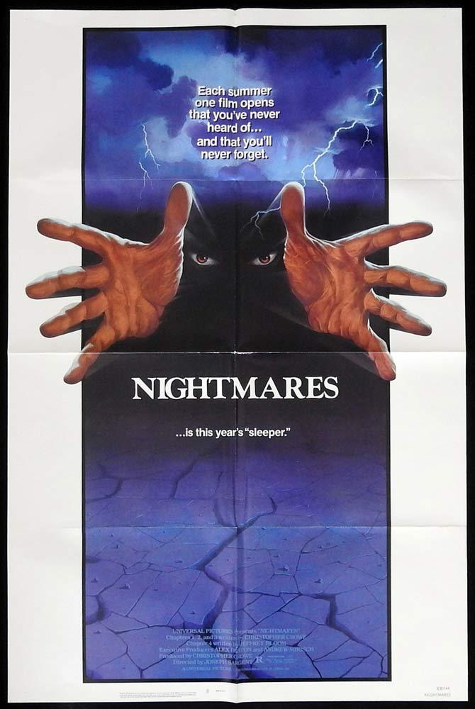 NIGHTMARES Original US One sheet Movie poster Cristina Raines Joe Lambie