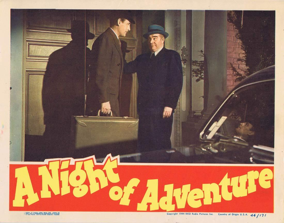 A NIGHT OF ADVENTURE Lobby Card 8 Tom Conway Audrey Long
