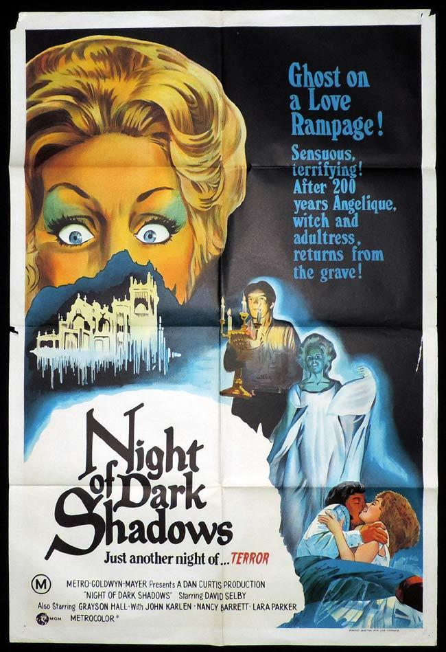NIGHT OF DARK SHADOWS One Sheet Movie Poster Grayson Hall Horror