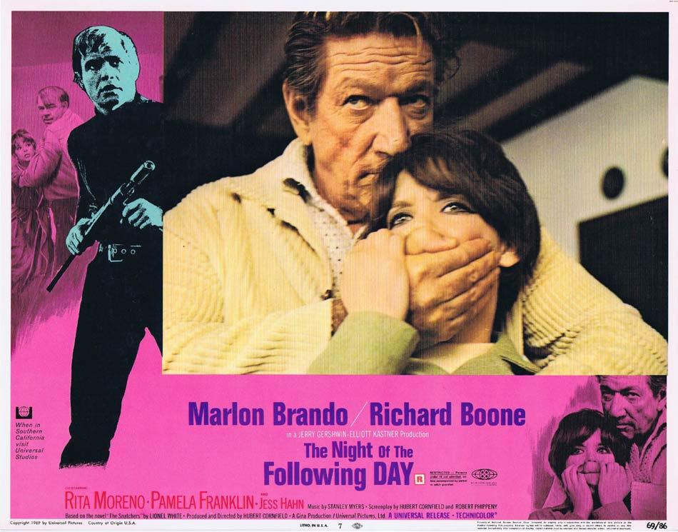 NIGHT OF THE FOLLOWING DAY Lobby Card 7 Marlon Brando Richard Boone