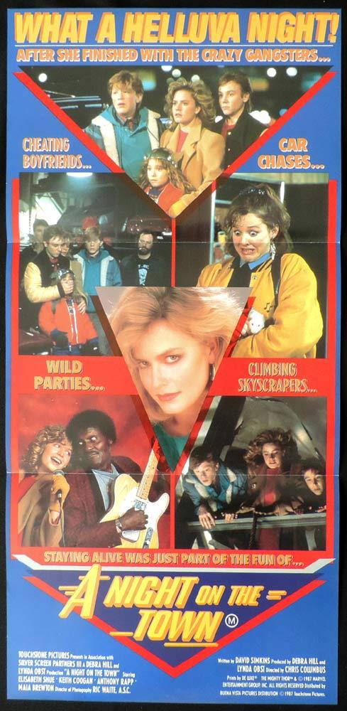 A NIGHT ON THE TOWN Adventures in Babysitting Daybill Movie Poster Elisabeth Shue