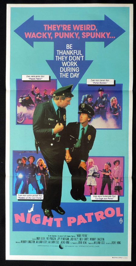 NIGHT PATROL Original Daybill Movie poster Linda Blair