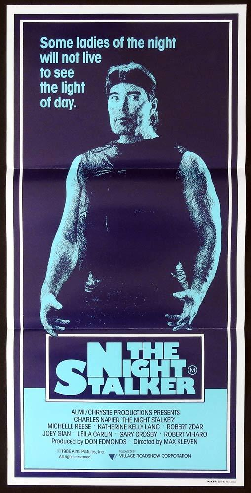 THE NIGHT STALKER Original Daybill Movie Poster Charles Napier Michelle Reese
