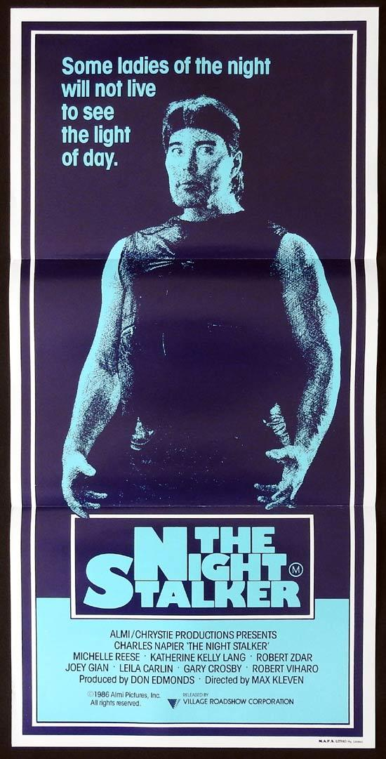 THE NIGHT STALKER Original Daybill Movie Poster Charles Napier Horror