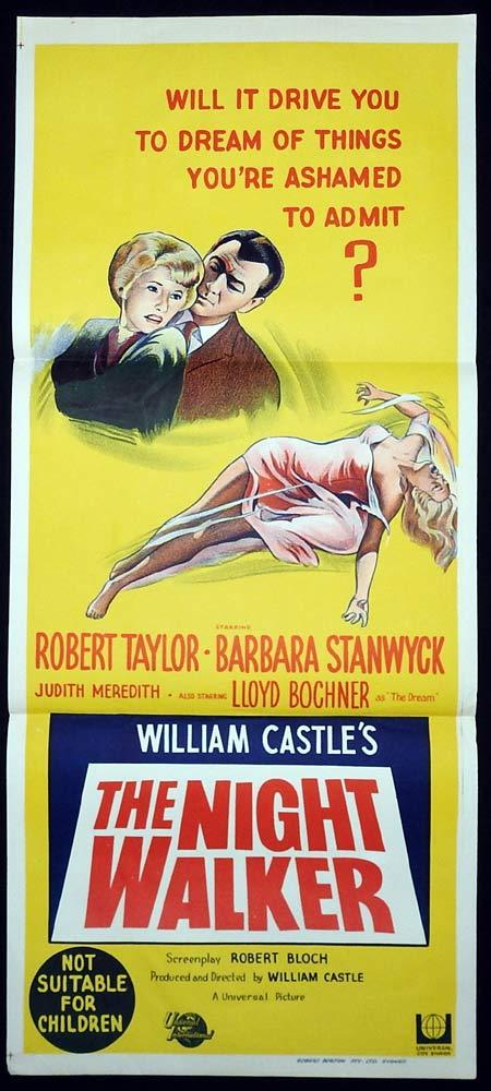 THE NIGHT WALKER Daybill Movie Poster 1964 William Castle Barbara Stanwyck