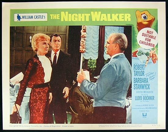THE NIGHT WALKER 1965 William Castle Lobby card 1 Barbara Stanwyck