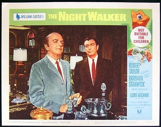 THE NIGHT WALKER 1965 William Castle Lobby card 2 Barbara Stanwyck