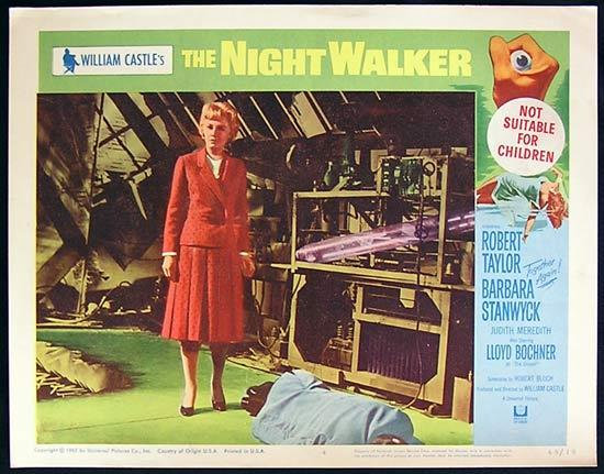 THE NIGHT WALKER 1965 William Castle Lobby card 4 Barbara Stanwyck