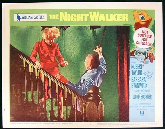 THE NIGHT WALKER 1965 William Castle Lobby card 5 Barbara Stanwyck