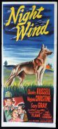 NIGHT WIND Original Daybill Movie Poster Charles Russell German Shepherd