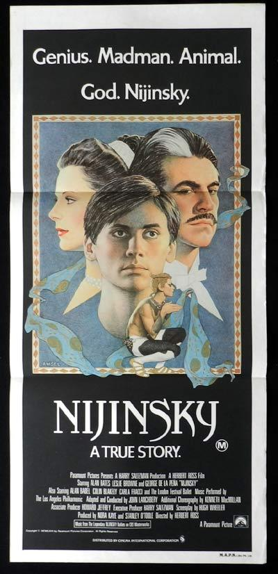 NIJINSKY Original Daybill Movie Poster Alan Bates