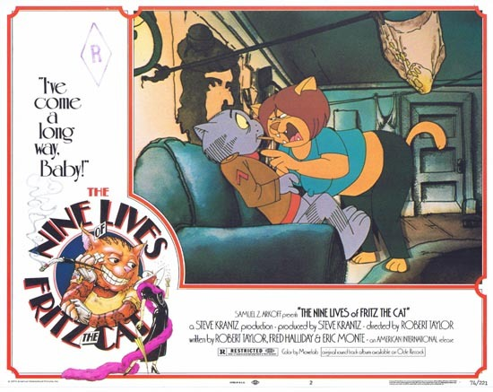 THE NINE LIVES OF FRITZ THE CAT 1974 Lobby Card 2