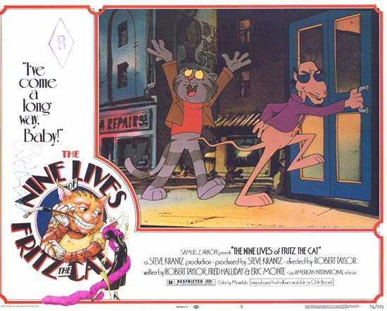 THE NINE LIVES OF FRITZ THE CAT 1974 Lobby Card 5