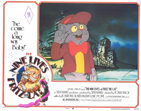 THE NINE LIVES OF FRITZ THE CAT 1974 Lobby Card 6