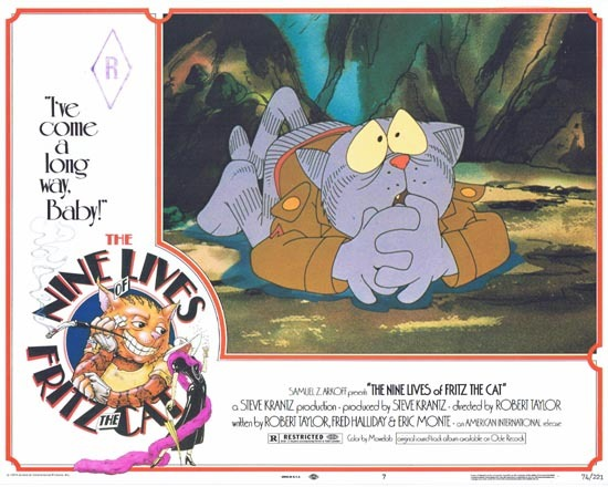 THE NINE LIVES OF FRITZ THE CAT 1974 Lobby Card 7