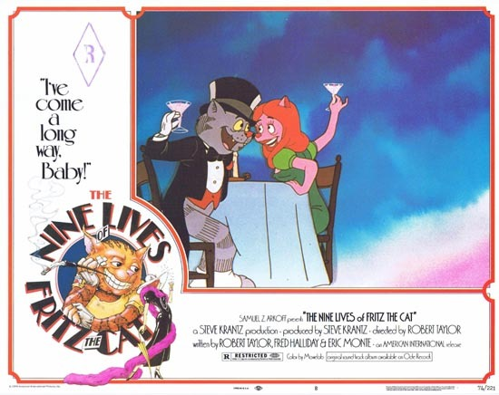 THE NINE LIVES OF FRITZ THE CAT 1974 Lobby Card 8