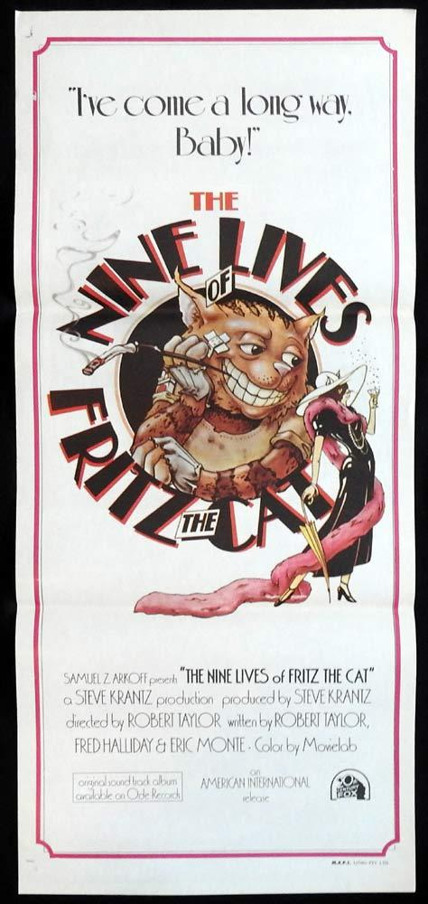 THE NINE LIVES OF FRITZ THE CAT Rare Original Daybill Movieposter
