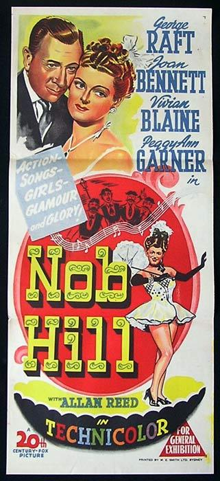 NOB HILL Daybill Movie poster GEORGE RAFT San Francisco