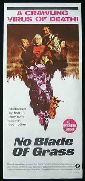 NO BLADE OF GRASS '70-Nigel Davenport RARE poster