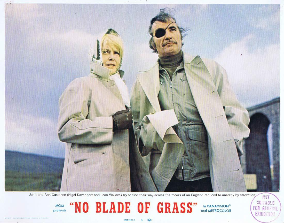 NO BLADE OF GRASS Lobby Card 4 Nigel Davenport Jean Wallace