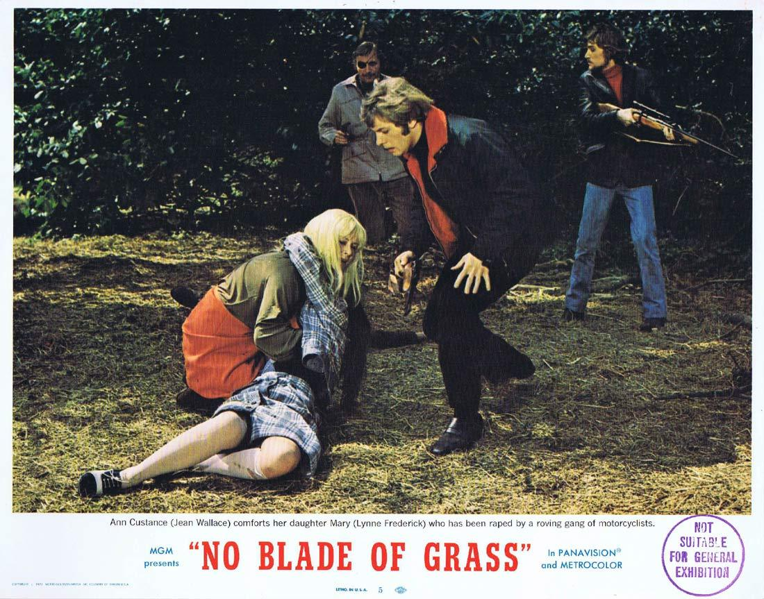 NO BLADE OF GRASS Lobby Card 5 Nigel Davenport Jean Wallace