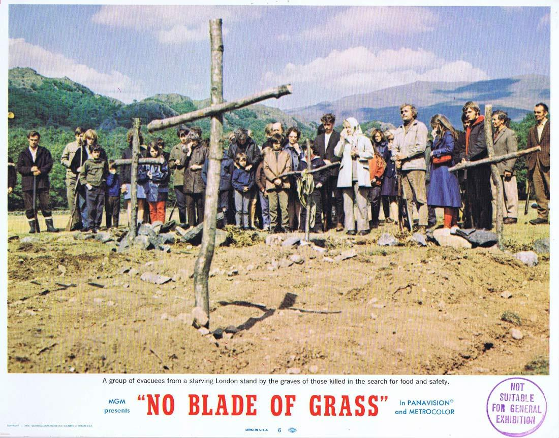 NO BLADE OF GRASS Lobby Card 6 Nigel Davenport Jean Wallace