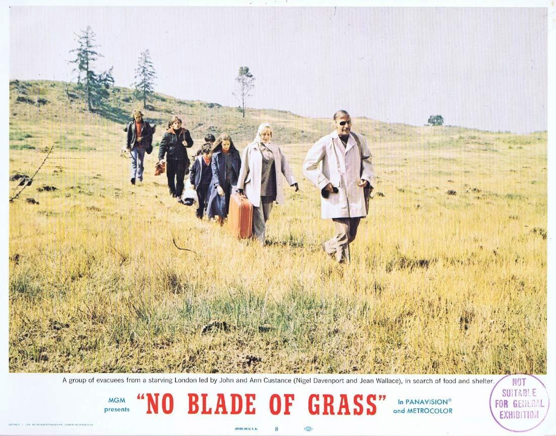 NO BLADE OF GRASS Lobby Card 8 Nigel Davenport Jean Wallace