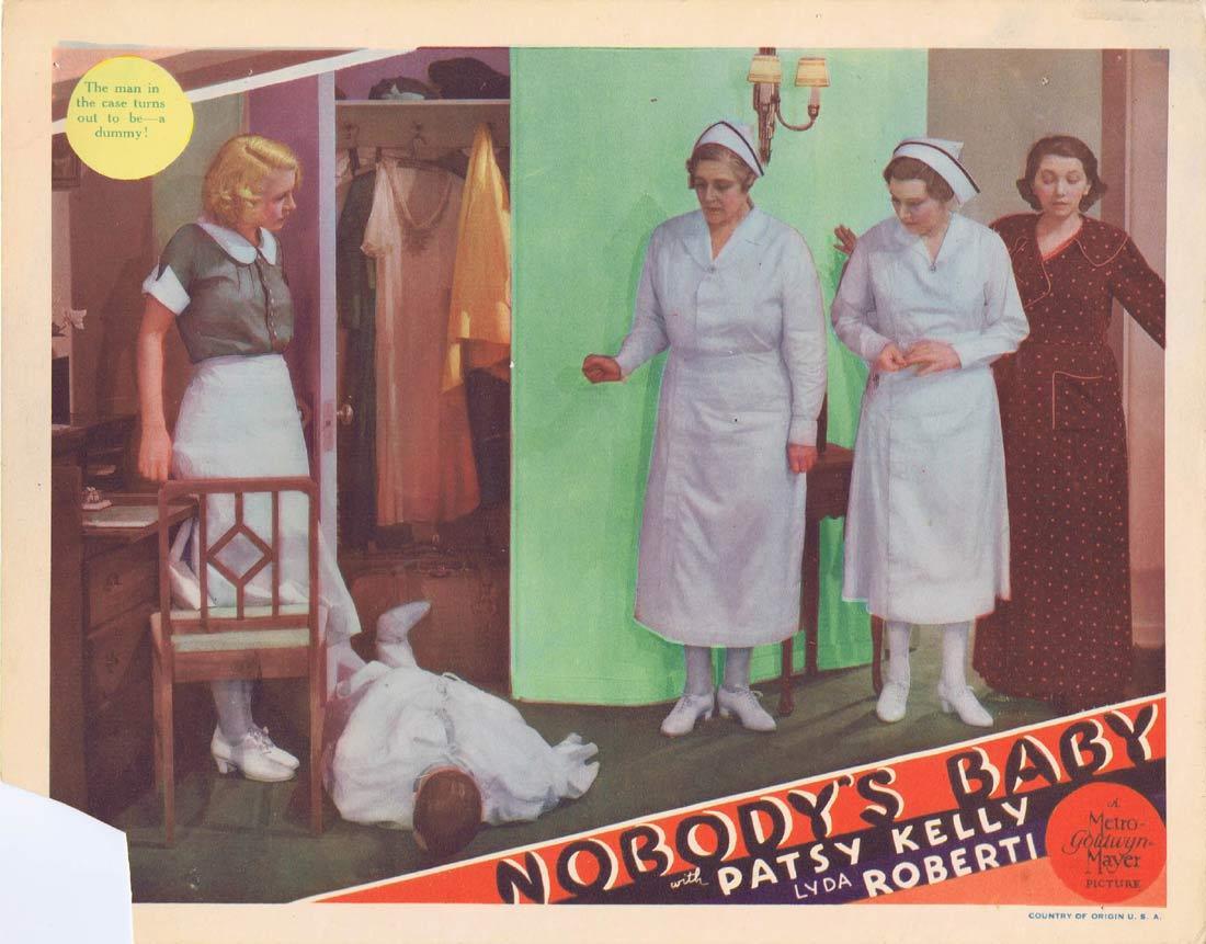NOBODY'S BABY Vintage Lobby Card Patsy Kelly Lyda Roberti Lynne Overman