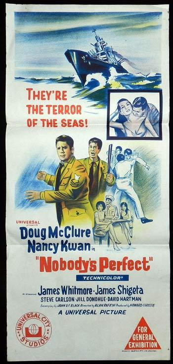 NOBODY'S PERFECT Daybill Movie Poster James Whitmore