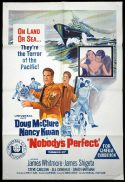 NOBODY'S PERFECT Original One sheet Movie Poster Doug McClure Nancy Kwan James Whitmore