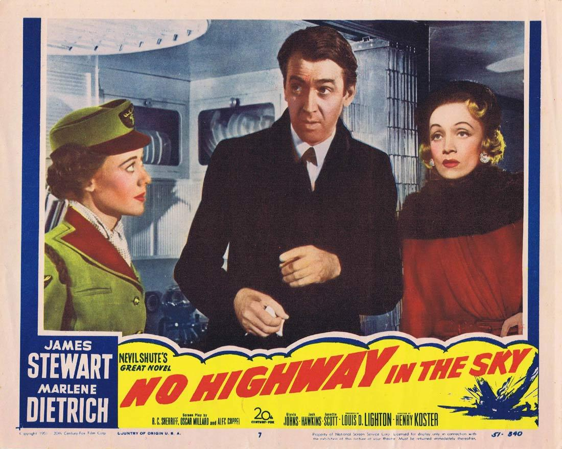 NO HIGHWAY IN THE SKY Vintage Lobby Card 7 James Stewart Marlene Dietrich