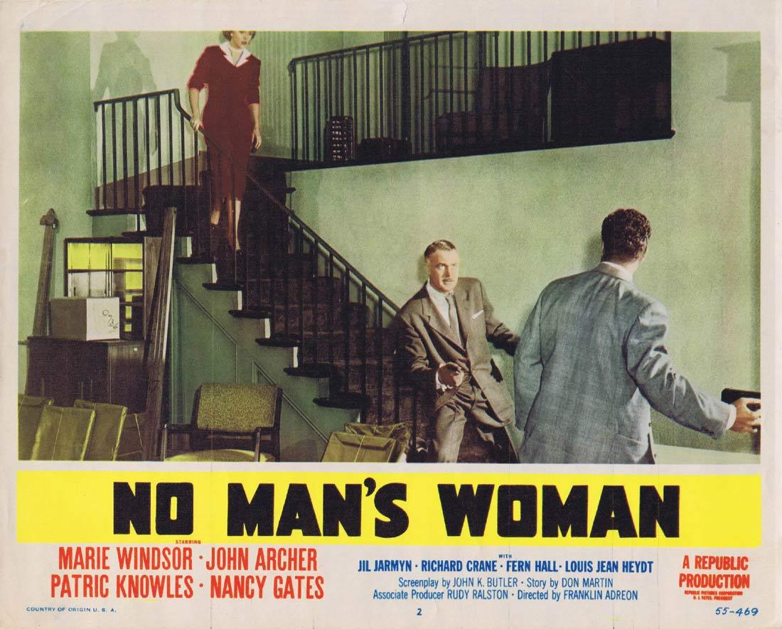 NO MANS WOMAN Lobby Card 2 Marie Windsor John Archer Patric Knowles