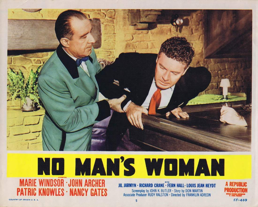 NO MANS WOMAN Lobby Card 5 Marie Windsor John Archer Patric Knowles