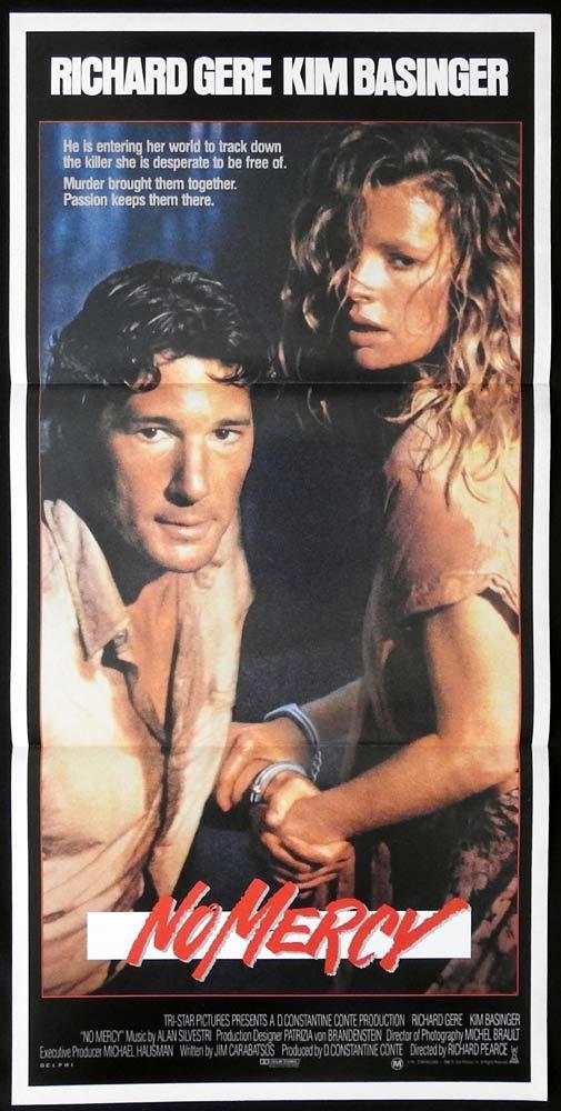 NO MERCY Original Daybill Movie poster RICHARD GERE Kim Basinger