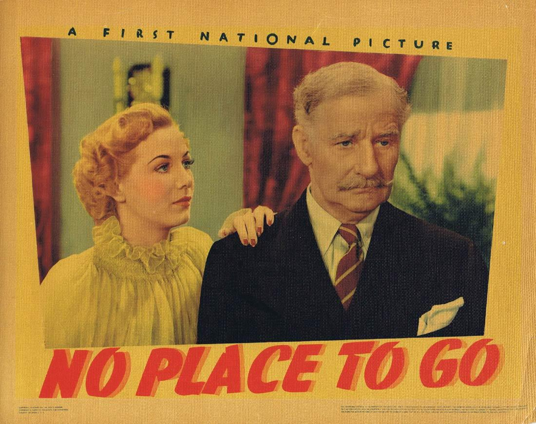 NO PLACE TO GO Lobby Card 3 Dennis Morgan Gloria Dickson Fred Stone 1939