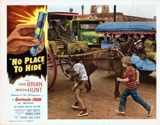 NO PLACE TO HIDE 1956 Lobby Card 1 David Brian Marsha Hunt
