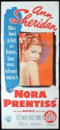NORA PRENTISS Original Daybill Movie Poster Ann Sheirdan