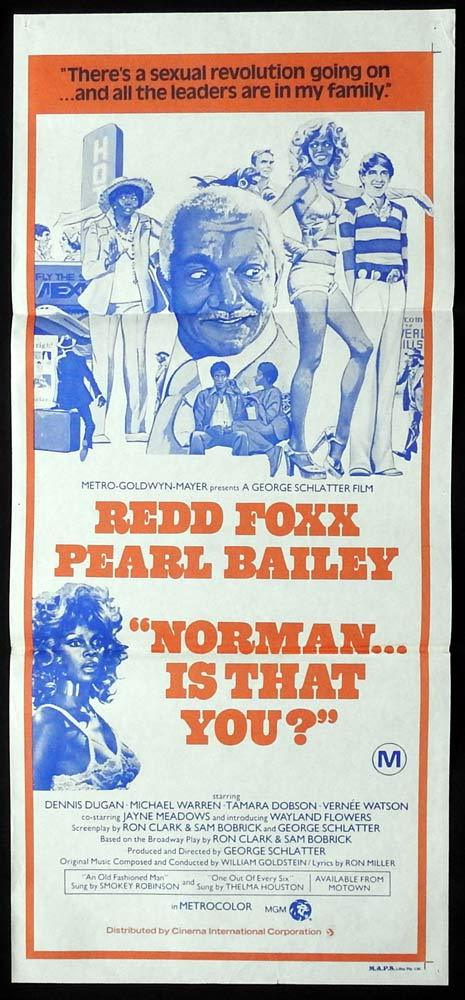 NORMAN IS THAT YOU Original Daybill Movie Poster Redd Foxx Pearl Bailey Motown