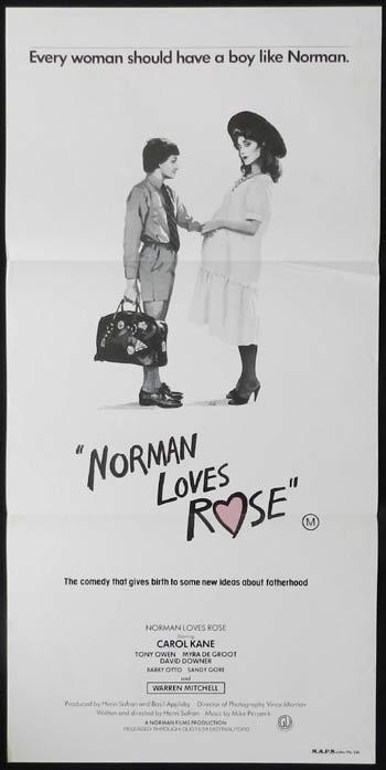 NORMAN LOVES ROSE Movie Poster 1982 Henri Safran Daybill