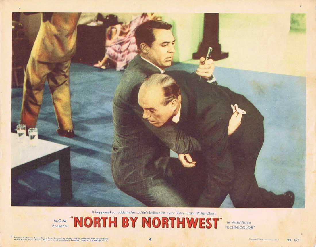 NORTH BY NORTHWEST Lobby Card 4 1959 Alfred Hitchcock Cary Grant