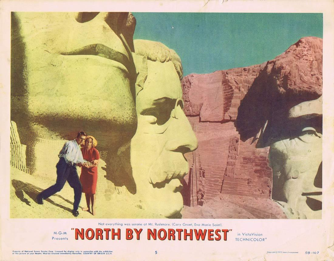 NORTH BY NORTHWEST Lobby Card 5 1959 Alfred Hitchcock Cary Grant Mount Rushmore