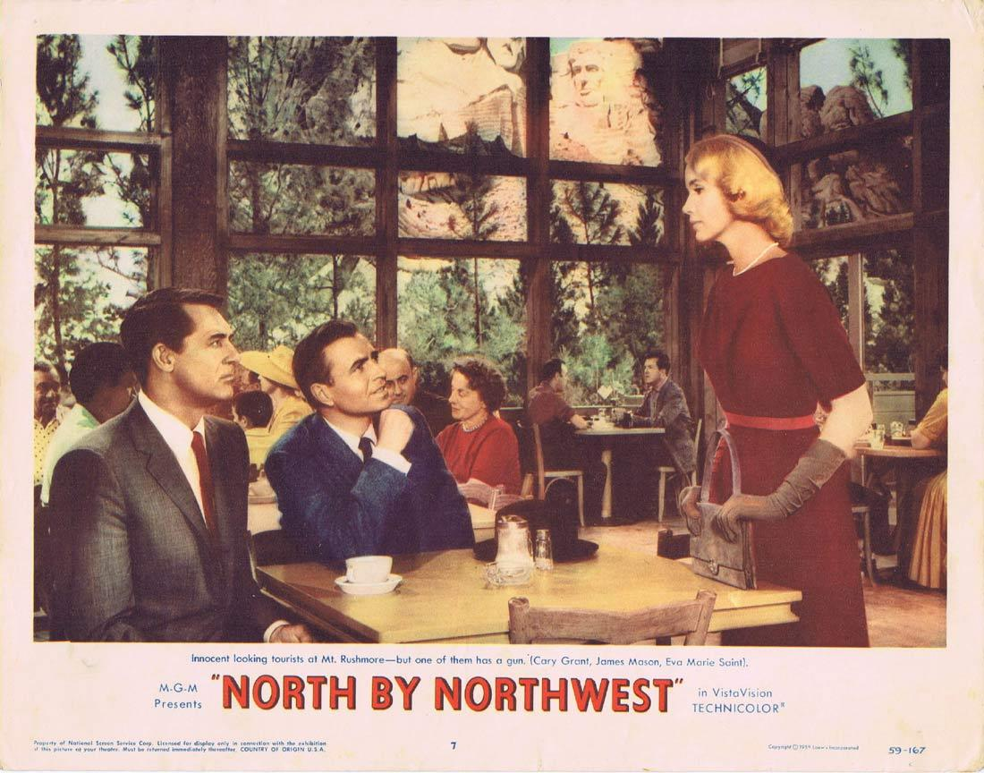North by Northwest, Alfred Hitchcock, Cary Grant, Eva Marie Saint, James Mason, Jessie Royce Landis