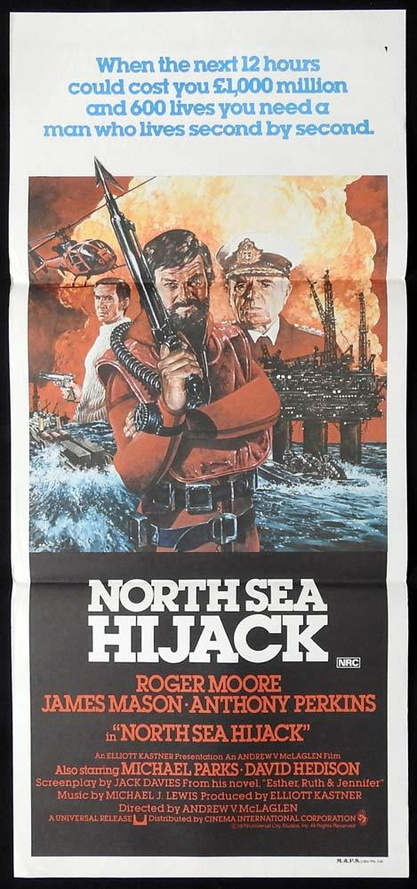 NORTH SEA HIJACK Original Daybill Movie Poster Roger Moore James Mason