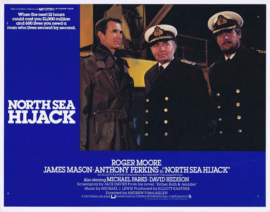NORTH SEA HIJACK Lobby Card Roger Moore James Mason